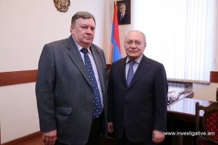 The Chairman of RA Investigative Committee Aghvan Hovsepyan received the Head of the OSCE Office in Yerevan Andrey Sorokin
