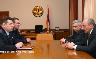 NKR President Bako Sahakyan received Deputy Chairman of RA Investigative Committee