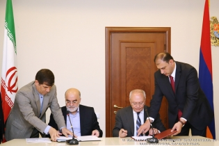 Chairman of RA Investigative Committee Aghvan Hovsepyan and Chairman of Supervisory Board of Islamic Republic of Iran Naser Seraj signed memorandum of understanding (Photos)