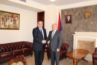 Chairman of RA Investigative Committee Aghvan Hovsepyan received newly appointed Ambassador of Georgia