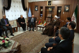 RA IC Chairman Aghvan Hovsepyan who is in Tehran on working visit met IRI Minister of Justice (Photos)
