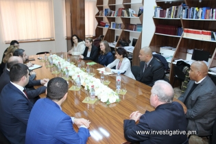 Deputy Chairman of RA Investigative Committee A. Ghambaryan received delegation of USA International Narcotics and Law Enforcement Affairs (Photos)