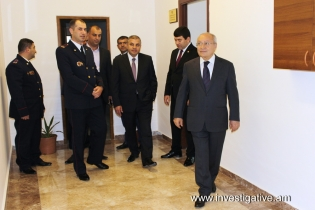 Aghvan Hovsepyan today took part in opening ceremony of new administrative building of Masis Investigative Division