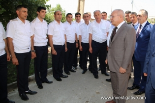 RA IC Chairman Aghvan Hovsepyan took part in opening ceremony of new administrative building of Vardenis Investigative Division