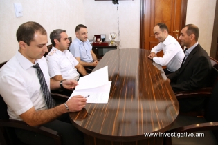 Deputy Chairman of RA Investigative Committee received Head and Deputy Head of Investigative Department of Police of Republic of Artsakh
