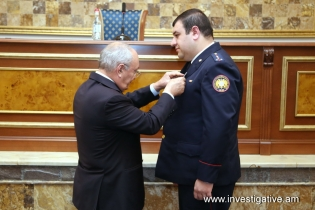Persons related to murder of two residents of Hrazdan identified; investigators and policemen awarded for work carried out for crime disclosure (Photos)