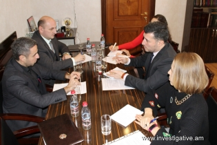 Deputy Chairman of RA Investigative Committee Artur Ghambaryan received representatives of EC delegation