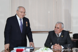 "RA IC Chairman Aghvan Hovsepyan selected real member of International Academy of Documentation and awarded ""Medal of Honor"" (Photos)"