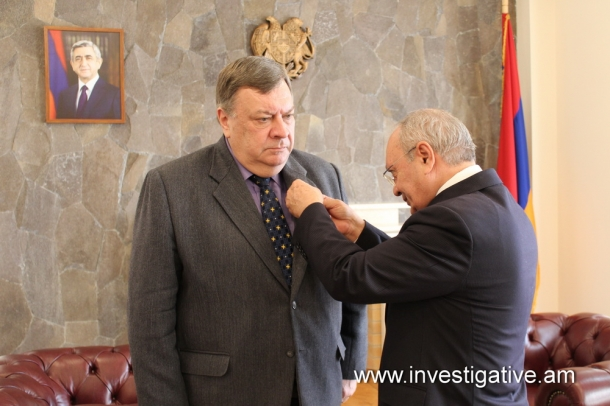 "By the order of Chairman of RA Investigative Committee Head of OSCE Office in Yerevan Andrey Sorokin awarded with ""Cooperation Medal"" (Photos)"