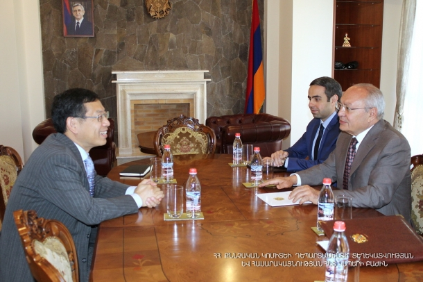 Chairman of RA Investigative Committee Aghvan Hovsepyan received Ambassador Extraordinary and Plenipotentiary of People's Republic of China to Armenia Tian Erlong